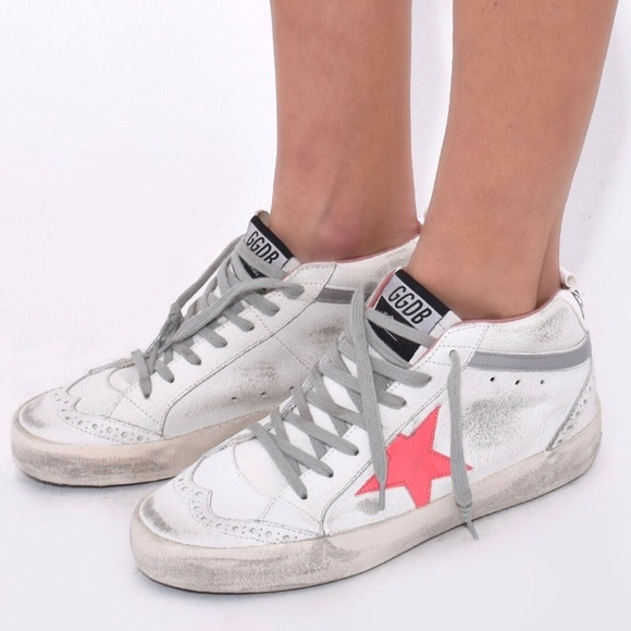Golden Goose Mid Star Sneakers White